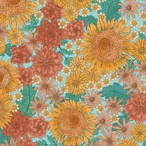 Large-Sunflower Floral