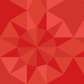 Tonal Sunburst Quilt Medallions in Red