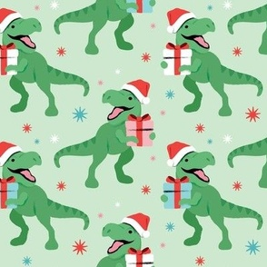 T-Rex Christmas - Large Scale