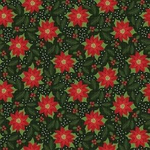 Maximalist Red Poinsettia - Small Scale