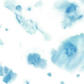 Baby blue watercolor dreams - ethereal painted texture - abstract watercolour stains a422-7