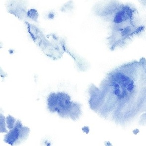 Denim blue watercolor dreams - ethereal painted texture - abstract watercolour stains a422-8