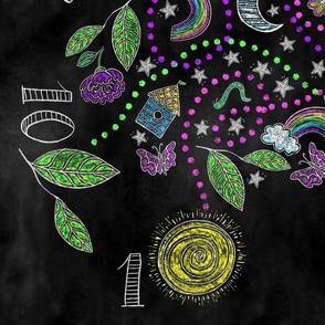 Chalkboard Seek, Find and Follow Playmat