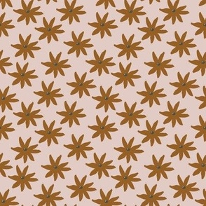 classic floral ochre