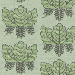 Embroidered Leaf Pattern
