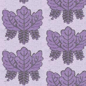 purple leaf pattern1.2k silk overlay