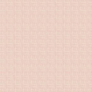 Cream and pink checks