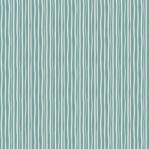 Cream and blue stripes