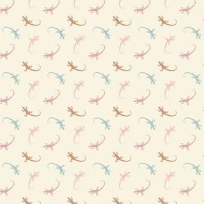 Pastel lizards