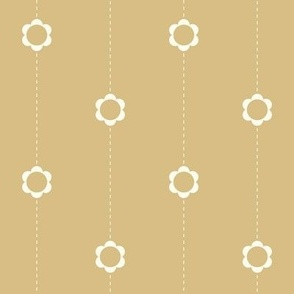 flower stitch stripe yellow medium scale