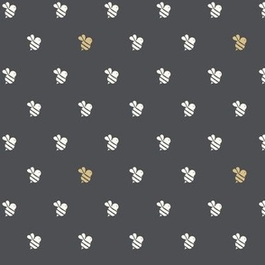 little bees navy and gold