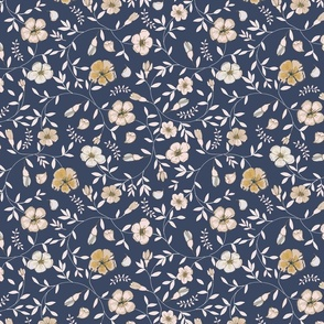 Dainty Day Floral - Navy