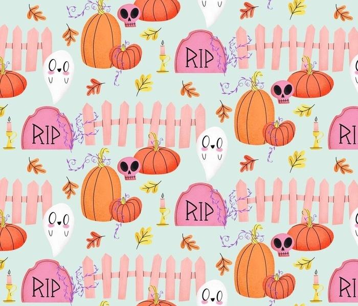Happy Little Witch Garden - Pastel Halloween