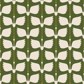 """Cranes Take Flight - Pine - 6"""" Repeat - Aprox.4.5"""" Wingspan"""