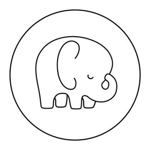 elephant 8 inch swatch mod baby coloring