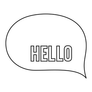 hello speech bubble 8 inch swatch mod baby coloring
