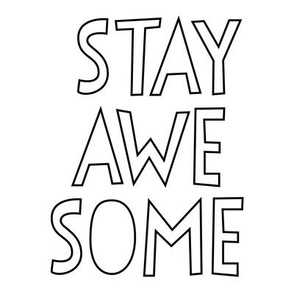 stay awesome 8 inch swatch mod baby coloring