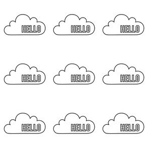 hello cloud 24 inch x 12 inch wallpaper swatch mod baby coloring