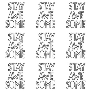 stay awesome 24 inch x 12 inch wallpaper swatch mod baby coloring