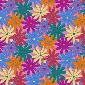 Mod Daisy Floral - Retro Colors - SMALL