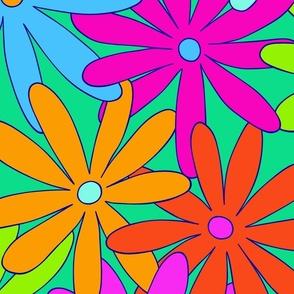 Mod Daisy Floral - Super Bright - JUMBO
