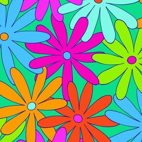 Mod Daisy Floral - Super Bright - LARGE