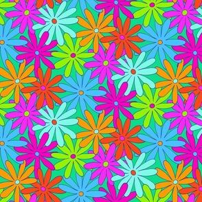 Mod Daisy Floral - Super Bright - SMALL