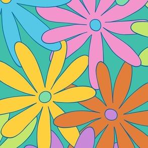 Mod Daisy Floral - Light and Bright - JUMBO