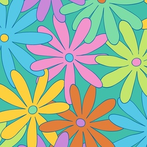 Mod Daisy Floral - Light and Bright - LARGE