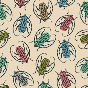 Retro Spotted Beetles in Bright Colours - LARGE Scale - UnBlink Studio by Jackie Tahara