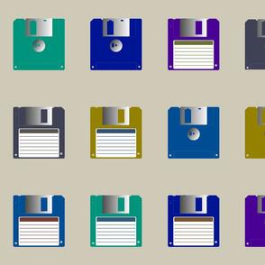 Floppy disks spaced