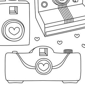 camera love coloring large