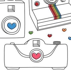 camera love rainbow colors large