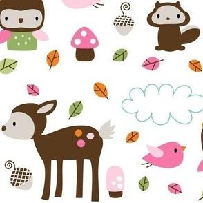 woodsie cuties large in pinks