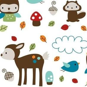woodsie cuties large multicolor