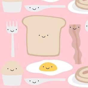 mmm breakfast on pink