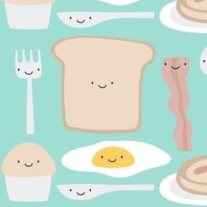 mmm breakfast on teal