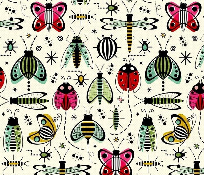 Vintage Garden  Bugs