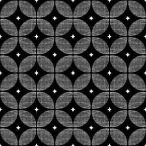 Black geometric Atomic star burst Mid Century Modern