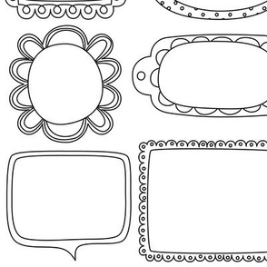 bloomified frames large black and white coloring