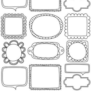 bloomified frames small black and white coloring