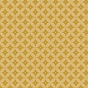atomic starburst Mustard yellow