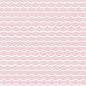 Scallop  in pink and white