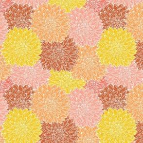 Dahlia Bloom Boom - Fall Colors