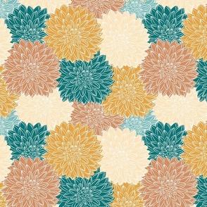Dahlia Bloom Boom - Earth Tones