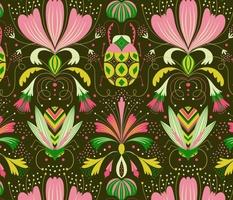art deco bugs // green // medium scale