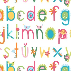 XL bloomified alphabet colorful ABC's
