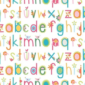 bloomified alphabet colorful ABC's