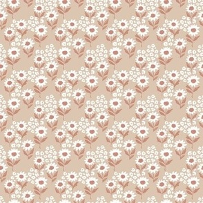 The leopard sunflowers sweet wild blossom beige moody coral white tiny