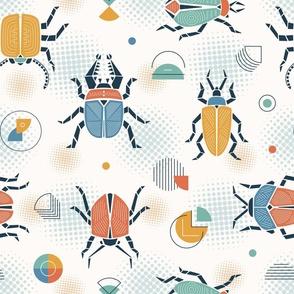 geometric retro bugs